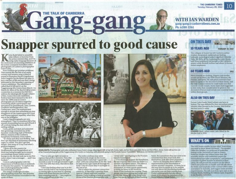 Canberra Times_Bucked Off article_Feb 28 2012